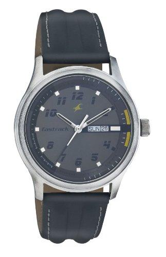 Fastrack Urban Kitsch Analog Grey Dial Mens Watch NE3001SL02 0 0 - Fastrack NE3001SL02 Urban Kitsch Analog Grey Dial Men's watch