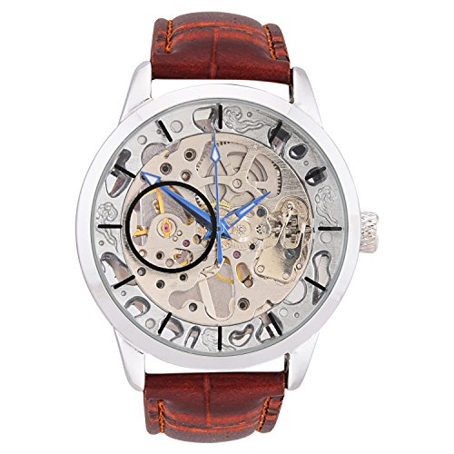 GT Gala Time Skeleton Mechanical Automatic Brown Leather Analog Mens Watch 0 - GT Gala TimeSkeleton Mechanical Automatic Brown Leather Analog Men's watch