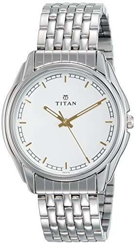Titan Karishma Analog White Dial Mens Watch 1578sm05 0 - Titan 1578sm05 Karishma Analog White Dial Men's watch
