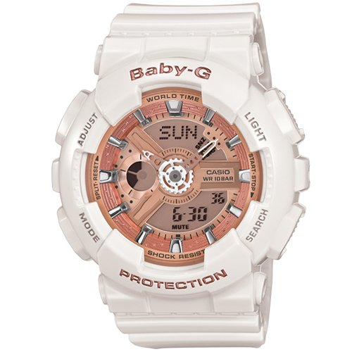 Casio Baby G Analog Digital White Dial Womens Watch BA 110 7A1DR BX016 0 - Casio BA-110-7A1DR (BX016) Baby-G Analog watch