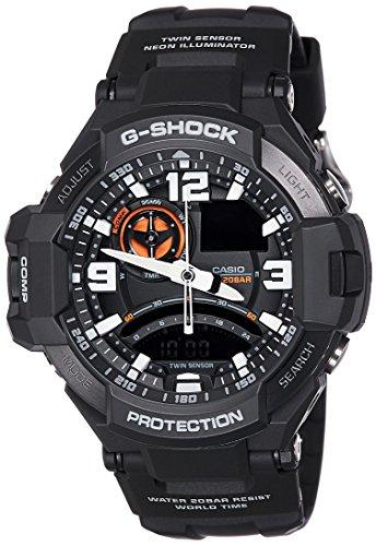 Casio G Shock Analog Black Dial Mens Watch GA 1000 1ADR G435 0 - Casio GA-1000-1ADR (G435) G-Shock Analog Black Men's watch