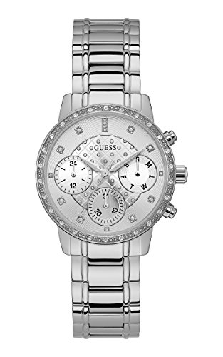 Guess Multi function Silver Dial Womens Watches W1022L1 0 - Guess W1022L1 Multi-function Silver Dial Women watch
