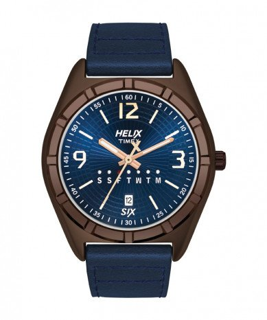 Helix Analog Blue Dial Mens Watch TW029HG10 0 - Helix TW029HG10 Analog Blue Dial Men's watch