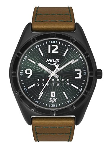 Helix Analog Green Dial Mens Watch TW029HG08 0 - Helix TW029HG08 Analog Green Dial Men's watch