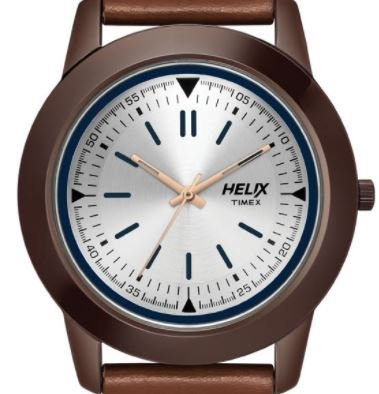 Helix Analog Silver Dial Mens Watch TW028HG09 0 - Helix TW028HG09 Analog Silver Dial Men's watch