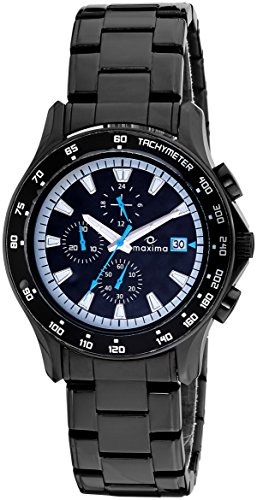 Maxima Attivo Chronograph Black Dial Men 32532CMGB 0 - Maxima 32532CMGB Attivo Chronograph Black Dial Men watch