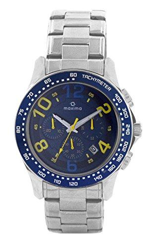 Maxima Attivo Chronograph Blue Dial Men 32540CMGI 0 - Maxima 32540CMGI Attivo Chronograph Blue Dial Men watch
