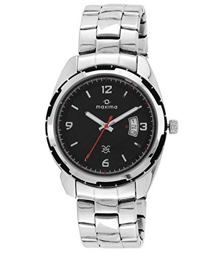 Maxima Attivo Date Black Dial Men 26650CMGI 0 - Maxima 26650CMGI Attivo Date Black Dial Mens watch