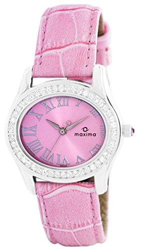 Maxima Swarovski Attivo ST Analog Pink Dial Womens Watch 29555LMLI 0 - Maxima 29555LMLI Swarovski Attivo ST Analog Pink Dial Women watch