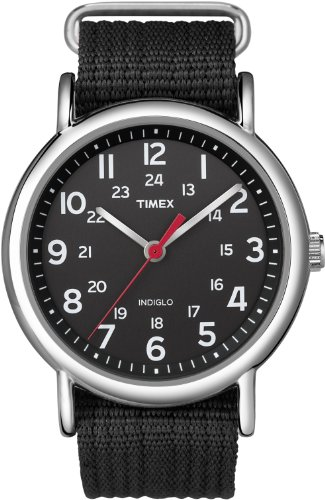 Timex Weekender Indiglo Analog Black Dial Unisex Watch T2N647 0 - Timex T2N647 Weekender Indiglo Analog Black Dial Unisex watch