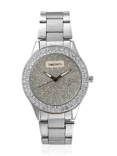 TimeSmith Limited Edition Silver Dial Silver Metal Watch for Women TSM 119 0 - TSM-119 TimeSmith Limited Edition Silver Dial Silver Metal watch