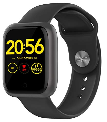 Bfit Gen 1 Color Black Single touch Unisex smartwatch with Heart rate monitoring Smartphone notifications and upto 15 days active battery life 0 - Bfit Gen 1 Single Touch Unisex smartwatch with Heart Rate Monitoring, Smartphone Notifications and Upto 15 Days Active…