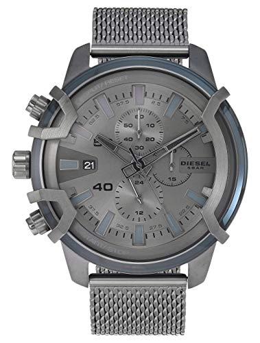 Diesel Griffed Analog Grey Over sized dial Mens Watch DZ4536 0 - Diesel Griffed Analog Grey Over sized dial Men's Watch-DZ4536