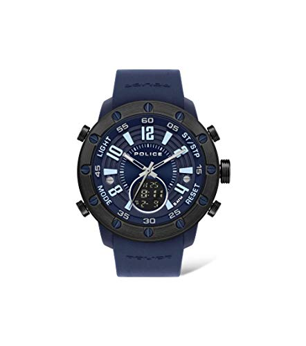 Police Analog Blue Dial Mens Watch PL16015JPBLU03PW 0 - Police Analog Blue Dial Men's Watch-PL16015JPBLU03PW