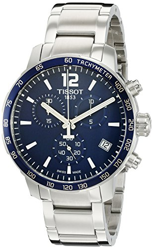 Tissot Casual Swiss Quartz Stainless Steel Analogue Mens WatchBlue Dial Silver Colored Strap T0954171104700 0 - Tissot Casual Swiss Quartz Stainless Steel Analogue Men's Watch(Blue Dial & Silver Colored Strap)-T0954171104700