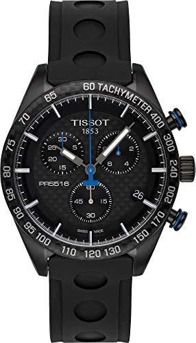Tissot T1004173720100 PRS 516 Chronograph Black Carbon Dial Mens Watch 0 - Tissot T100.417.37.201.00 PRS 516 Chronograph Black Carbon Dial Men's Watch