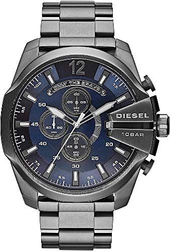 DieseI Mega Chief Analog Blue Dial Mens Watch DZ4329 0 - DieseI Mega Chief Analog Blue Dial Men's Watch - DZ4329