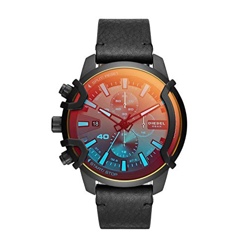 Diesel Analog Black Over sized dial Mens Watch DZ4519 0 - Diesel Analog Black Over sized dial Men's Watch-DZ4519