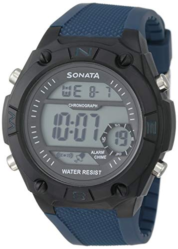 SF Superfibre Digital Grey Dial Mens Watch NM77033PP03ANN77033PP03 0 - SF Sporty Digital Grey Round Dial Men's Sport Watch-NN77033PP03